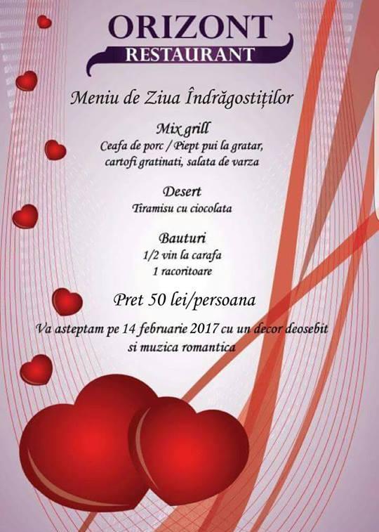 Ziua Îndrăgostiţilor la Restaurant Orizont Ploiesti