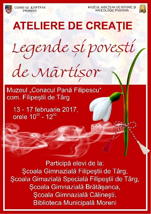 'Legende şi poveşti de mărţişor' la Muzeul 'Conacul Pană Filipescu'