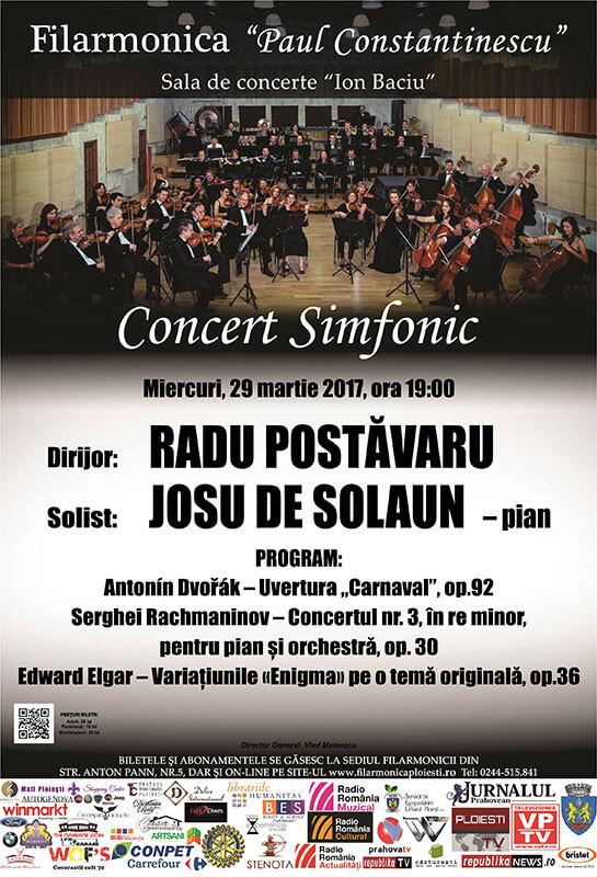 JOSU DE SOLAUN unul dintre cei mai buni pianisti ai lumii revine  pe scena Filarmonicii Ploiesti