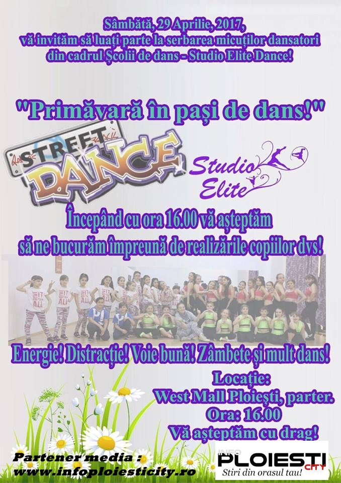Serbare Şcoala de dans Studio Elite Dance.