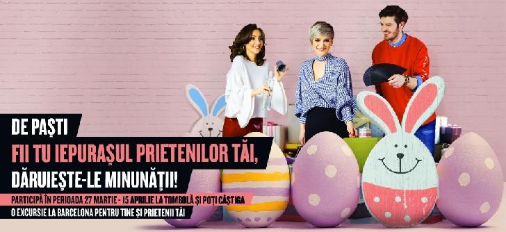 De Paşti, fii tu iepuraşul prietenilor tăi! Faci shopping la Ploieşti Shopping City şi pleci în Barcelona cu prietenii