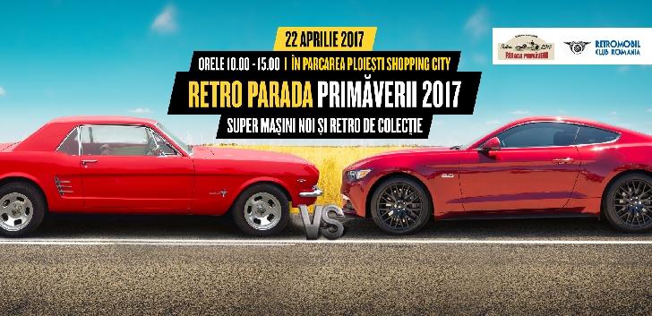 Paradă maşinilor retro soseşte la Ploieşti Shopping City