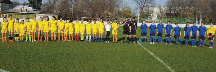 Meci de fotbal feminin la baza sportiva Kiru Sport
