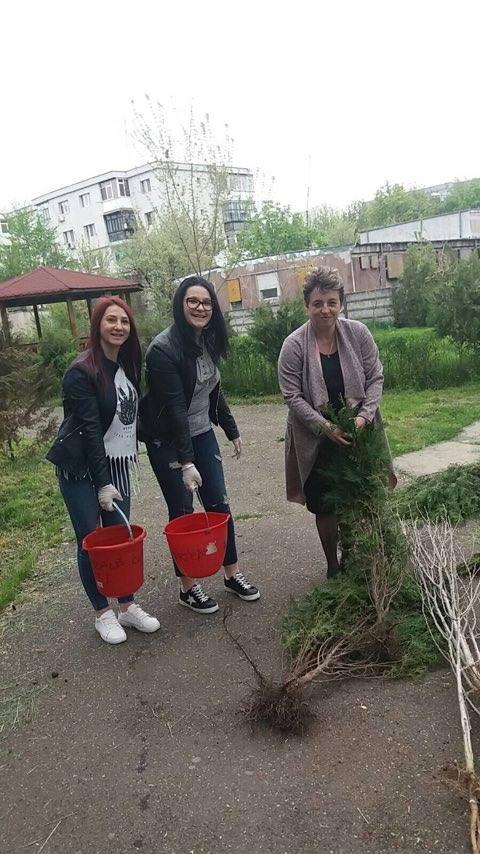 Zeci de puieţi de arbori plantaţi de elevii Colegiului Tehnic Toma N. Socolescu Ploiesti(foto)