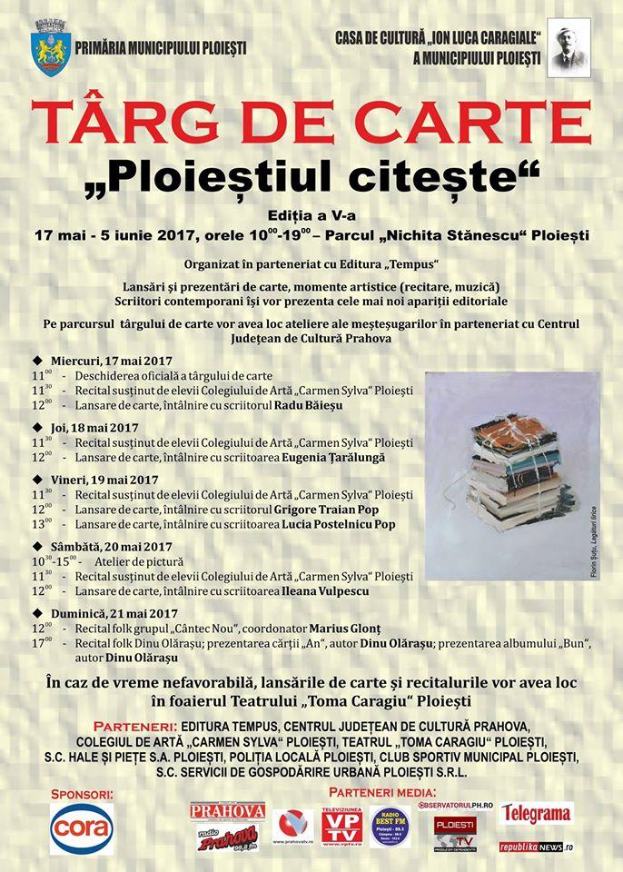 A fost deschisă cea de a 5 a ediţie a Târgului de carte de la Ploieşti.