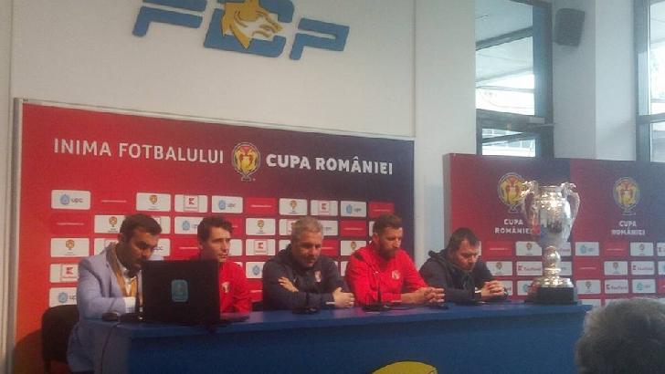 Conferinţa de presă premergătoare finalei Cupei României (ediţia 2016 -2017) a avut loc la Ploieşti.(foto si video )