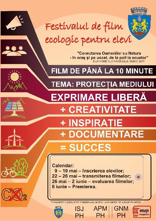 """""""Festivalul de film ecologic pentru elevi – Ploieşti 2017"""""""