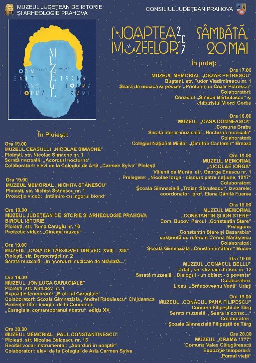 20 mai -Noaptea muzeelor . Programul muzeelor din Prahova.