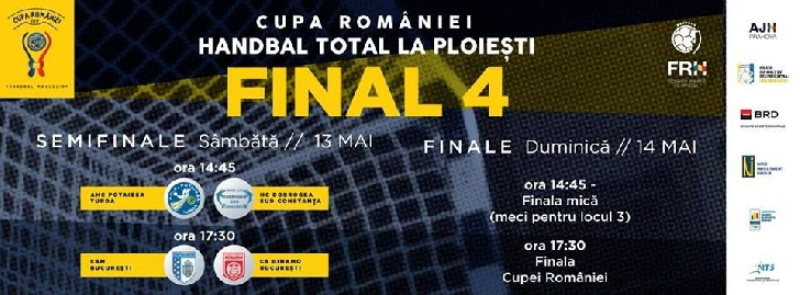 Începe turneul final al Cupei României la handbal masculin.