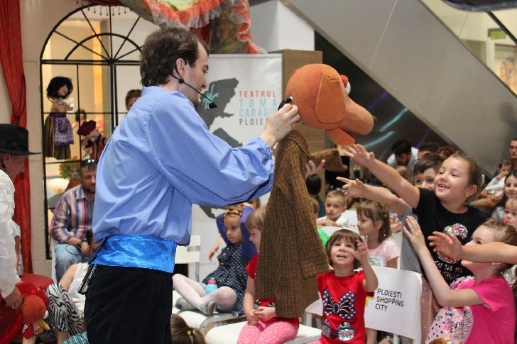 Cel de-al doilea weekend al Festivalului teatrului de papusi aduce noi piese pentru cei mici, la Ploiesti Shopping City