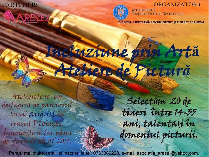 """MTS prin  Direcţia Judeţeană pentru Sport şi Tineret Prahova, organizează în parteneriat cu Asociaţia ARES'EL,  ateliere de pictură în cadrul proiectul """"Incluziune prin artă""""."""