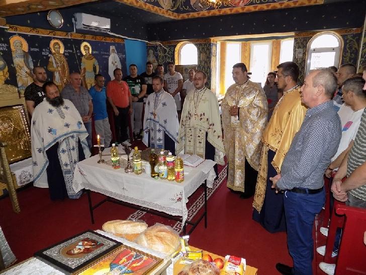 Sfântul Maslu la Penitenciarul Ploieşti