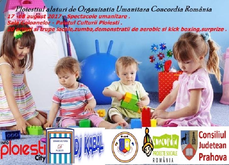 Spectacol caritabil pentru Organizaţia Umanitară Concordia România .