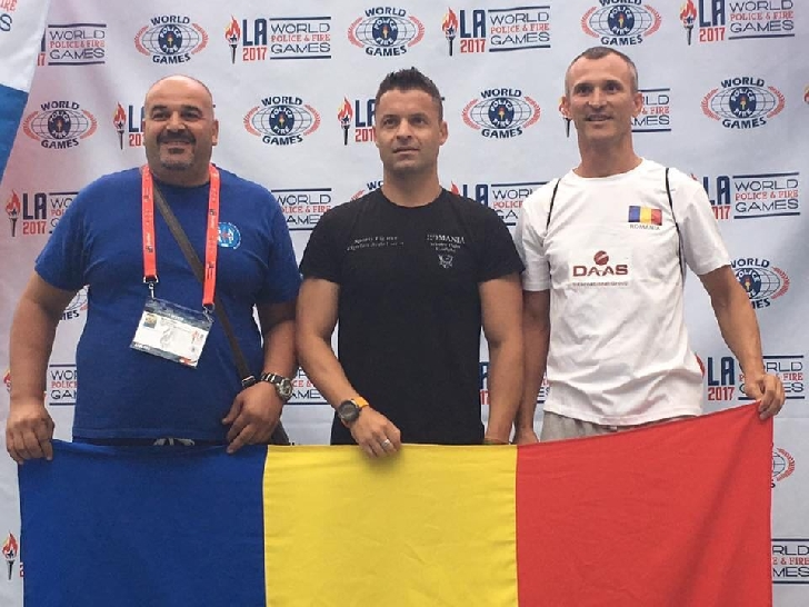 Trei poliţişti prahoveni au fost premiaţi la Campionatul Mondial al Poliţiştilor şi Pompierilor din Los Angeles