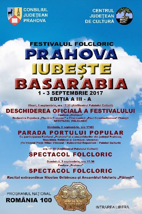 """Festivalul folcloric """"Prahova iubeşte Basarabia"""", ediţia a III-a"""