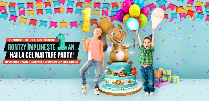 """Toti copiii sunt invitati la aniversarea """"Clubului lui Rontzy"""", la Ploiesti Shopping City"""