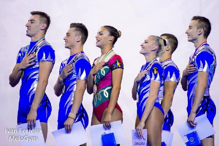România a câştigat titlul european  la Campionatele Europene de Gimnastică Aerobică din  Ancona, Italia, Ediţia a 10-a,  22 – 24 septembrie 2017