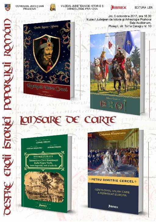 """Lansare de carte - """"Despre eroii istoriei Poporului Român"""""""