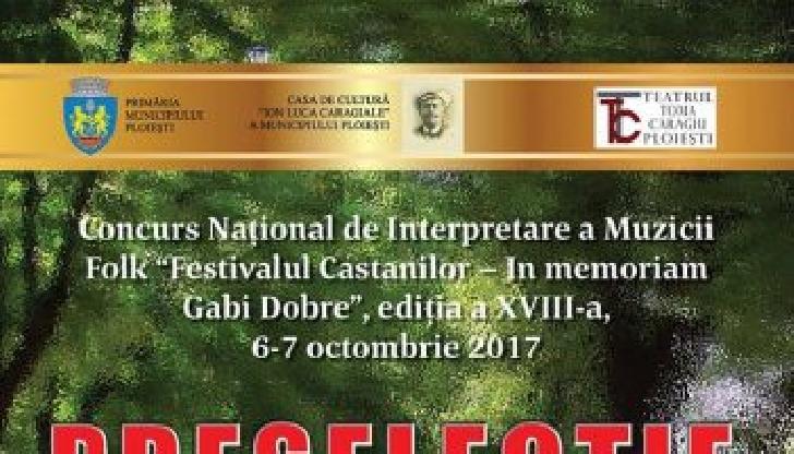 """Castigatorii Festivalului Concurs Naţional de Muzică Folk """"Festivalul Castanilor – In memoriam Gabi Dobre"""
