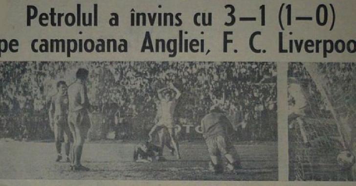 51 ani de la victoria cu Liverpool. 12 octombrie 1966, o zi memorabilă pentru fotbalul ploiestean