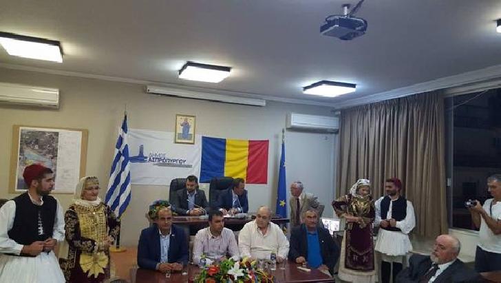Primarul municipiului Ploieşti, Adrian Dobre, vizită oficială în oraşul grecesc Aspropyrgos
