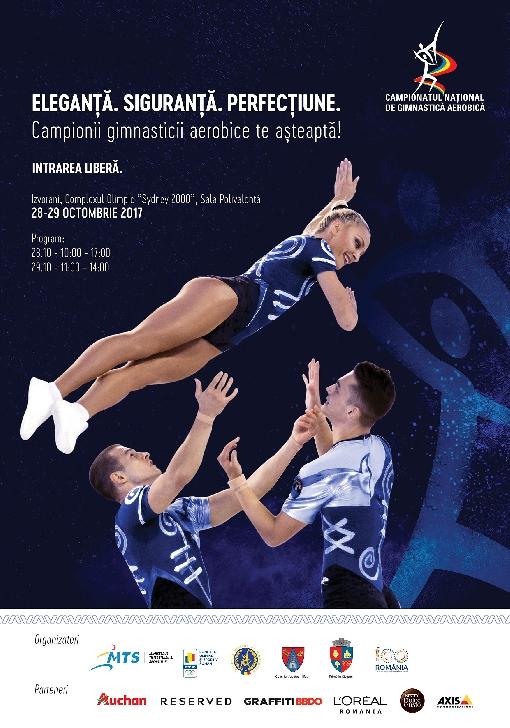 Campionatele Naţionale de Gimnastică Aerobică  Ediţia a XXII-a, Izvorani, 28 – 29 octombrie 2017