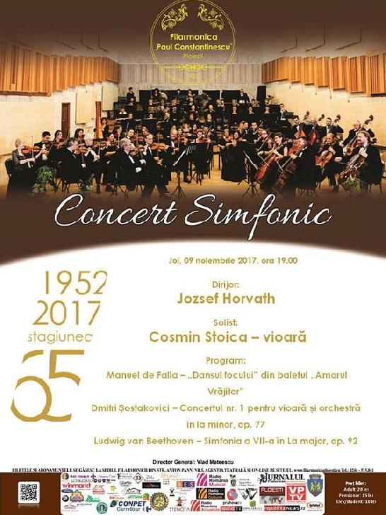 CONCERT SIMFONIC cu maestrul Jozsef Horvath , la Filarmonica
