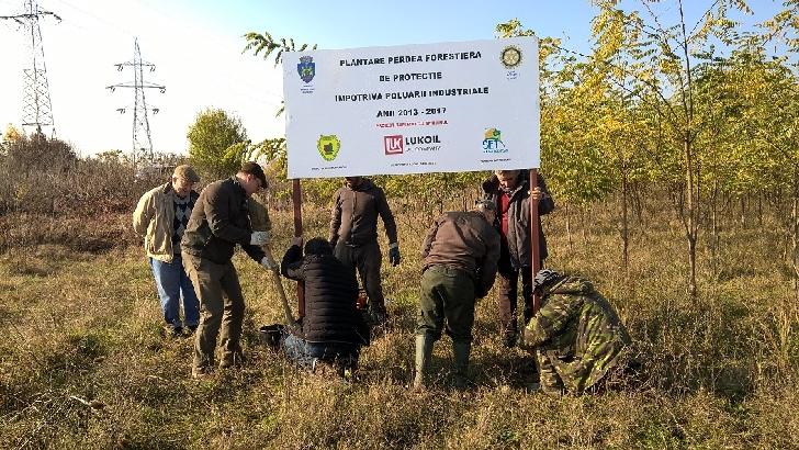 Clubul Rotary Ploieşti a terminat realizarea  unei  perdele forestiere pe centura de est a Ploieştiului