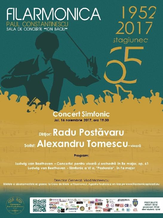 """Zilele Filarmonicii 65"", concert simfonic -  ""Beethoven - In Memoriam - 190 de ani"""