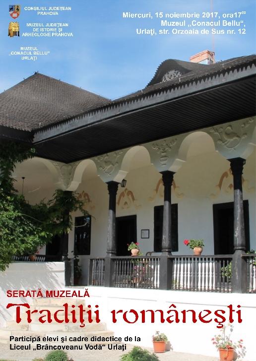 """Serata muzeală ,,Tradiţii româneşti"""" la Urlati"""
