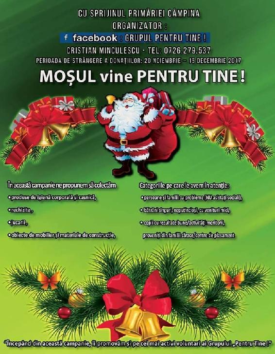 """Campania """"Moşul vine Pentru Tine!"""", ediţia 2017"""