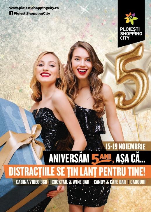 Petrece un weekend de poveste la a 5-a aniversare Ploiesti Shopping City