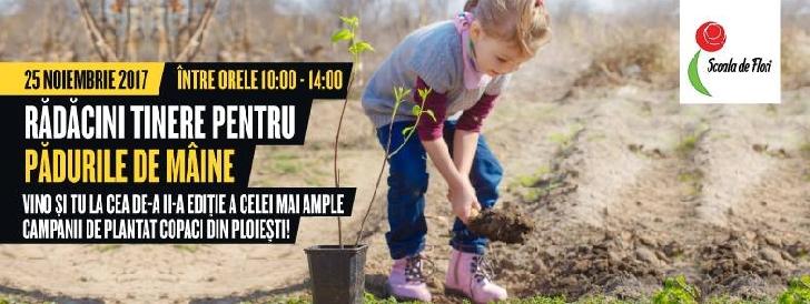 """Peste 1.000 de copii iau parte la acţiunea de plantare """"Rădăcini tinere pentru pădurile de mâine"""""""