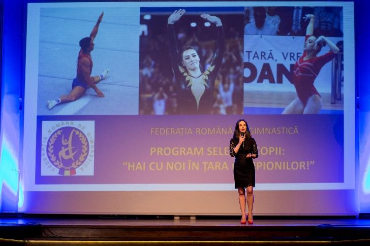 """Federaţia Română de Gimnastică lansează programul naţional de selecţie  """"Hai cu noi în ţara campionilor"""", 2018 - 2022"""