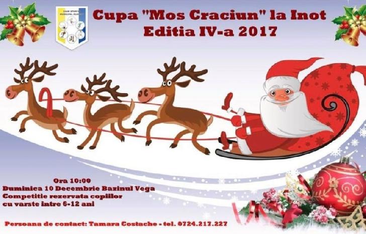 """320 de copii vor participa, duminică, la cea de-a IV-a ediţie a Cupei """"Moş Crăciun"""" la înot"""