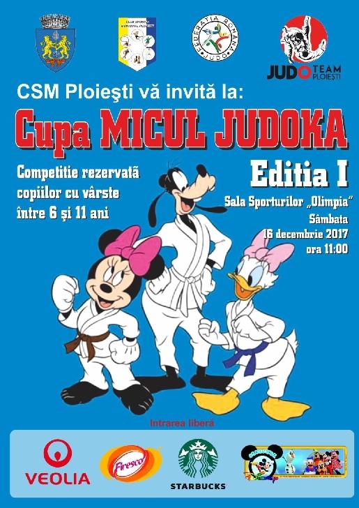 """Cupa """"Micul Judoka"""" - Ediţia I are loc sâmbătă, în Sala Sporturilor Olimpia"""