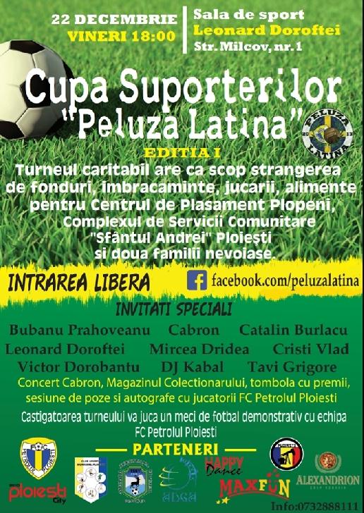 """""""Latinii """"organizează un turneu caritabil. Cupa Suporterilor"""