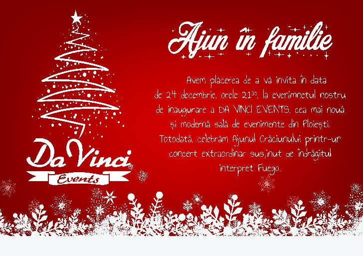 Ajun in familie la Da Vinci Events