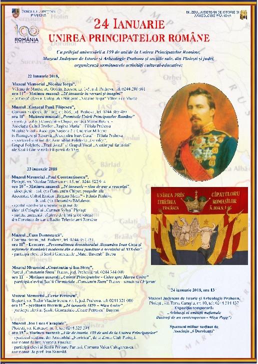 Muzeul Judetean de Istorie Prahova-actiuni dedicate zilei de 24 ianuarie