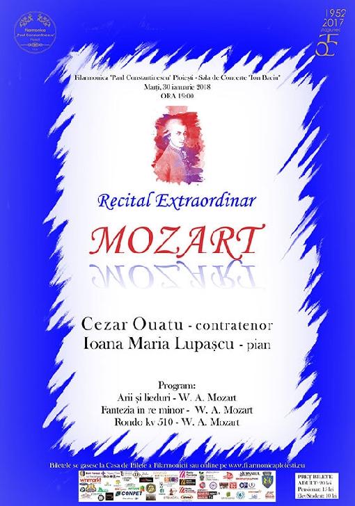 Recital Mozart .Cezar Ouatu şi Ioana Maria Lupaşcu la Filarmonica Ploiesti