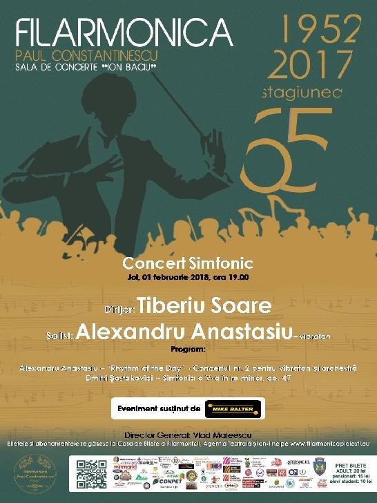 """Concert Simfonic deosebit la Filarmonica """"Paul Constantinescu"""" Ploieşti"""