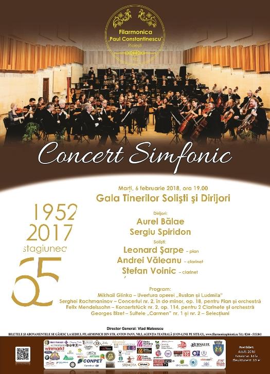 """CONCERT SIMFONIC """"Gala tinerilor solişti şi dirijori"""""""