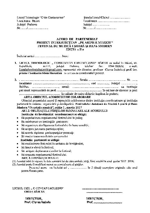 """FESTIVALUL JUDEŢEAN  DE MUZICĂ UŞOARĂ ŞI DANS MODERN  """"PE ARIPILE MUZICII"""""""