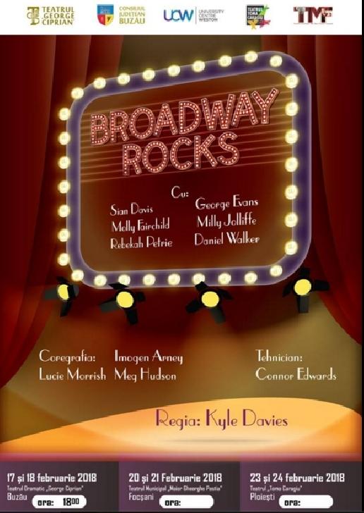 """Broadway Rocks"" la Teatrul "" Toma Caragiu "" Ploiesti"