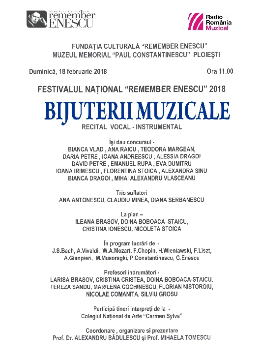 Bijuterii muzicale la Muzeul Memorial