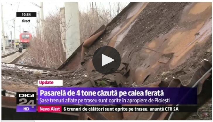 Update ! Incident Gara de Vest Ploiesti . Traficul feroviar Bucureşti-Braşov a fost  reluat parţial