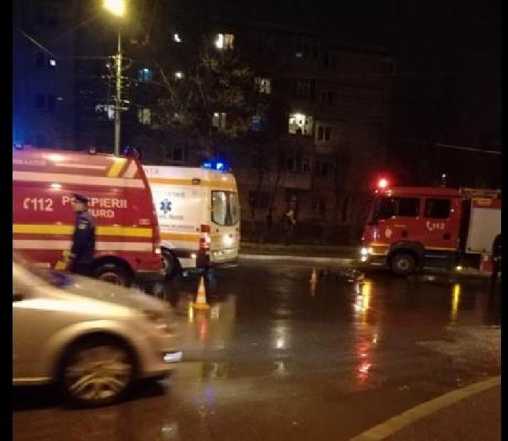 Accident rutier, miercuri seara, pe strada Democraţiei din Ploieşti.