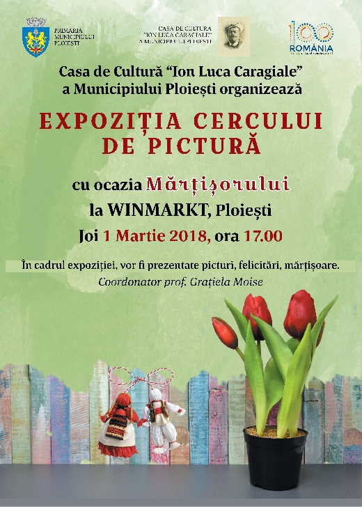 Expoziţie a Cercului de pictură la Winmarkt Ploiesti