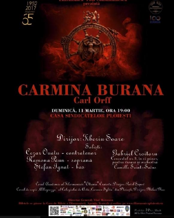 Concert CARMINA BURANA de Carl Orff