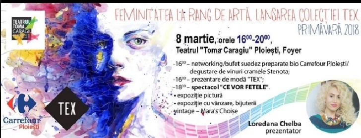 """Feminitatea la rang de arta in foyerul Teatrului """"Toma Caragiu"""" Ploiesti"""